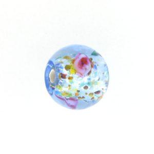 6108L - Czech Silver Foil Round Beads - Light Sapphire