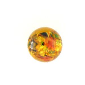 6108L - Czech Silver Foil Round Beads - Topaz