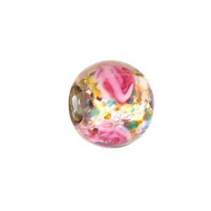 6110L - Czech Silver Foil Round Beads - Amethyst