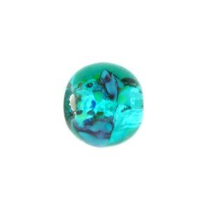 6110L - Czech Silver Foil Round Beads - Blue Zircon