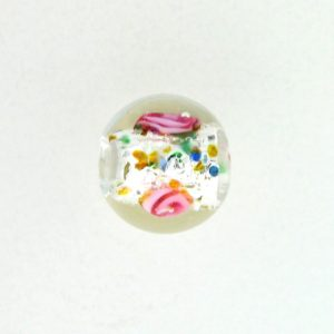 6110L - Czech Silver Foil Round Beads - Clear
