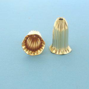 167 - 13x20mm 14K Gold Filled Cap Bead