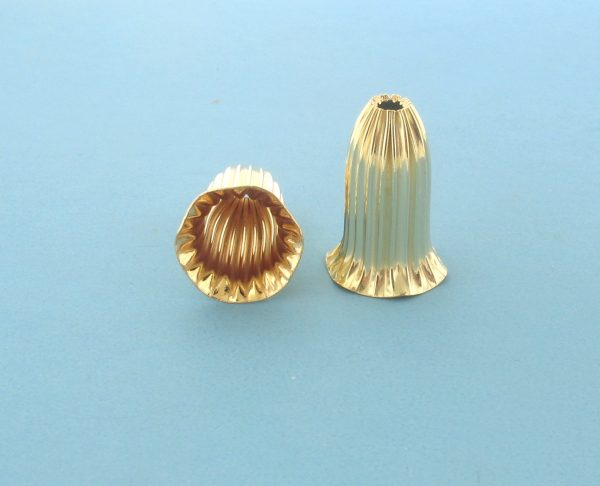 167 - 13x20mm 14K Gold Filled Cap Bead