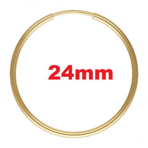 1770 - 1.25x24mm 14K Gold Filled Endless Hoops