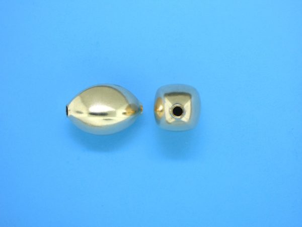 # 225 - 10.4x14.5mm Gold Filled Design Oval Bead