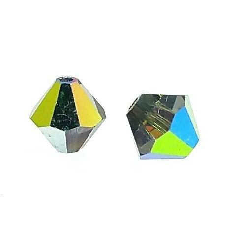 5301/5328 - 6mm Swarovski Bicone Crystal Bead - Vitrail Medium