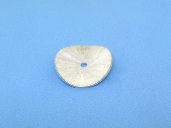 #15724 - Brushed Sterling Silver Flat Round Spacer- 14mm