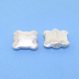#15749 - Brushed Sterling Silver Bead - 9mm