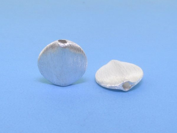 #15757 - Brushed Sterling Silver Bead - 12mm