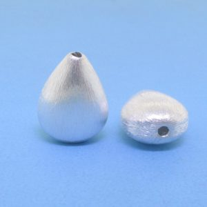 #15759 - Brushed Sterling Silver Bead - 13.5mm