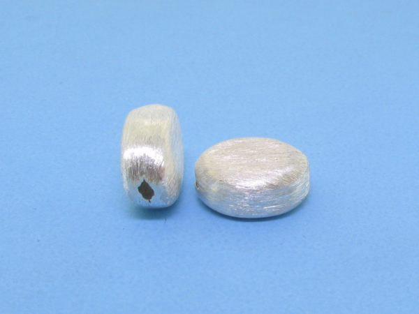 #15763 - Brushed Sterling Silver Bead - 11mm