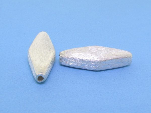 #15766 - Brushed Sterling Silver Bead - 19mm