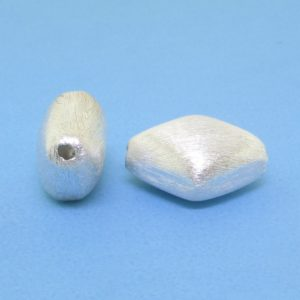#15769 - Brushed Sterling Silver Bead - 14mm