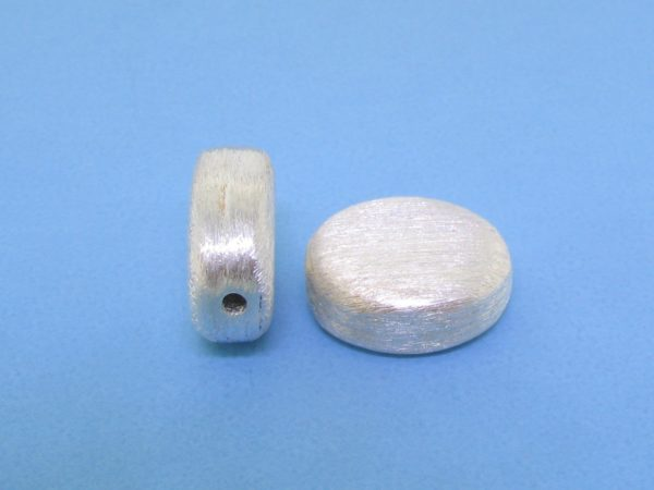 #15770 - Brushed Sterling Silver Bead - 14mm