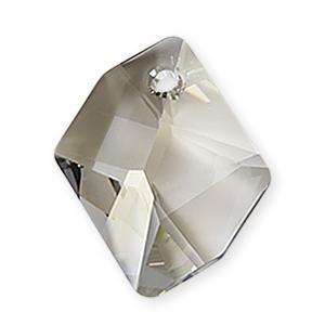 6680 - 14mm Swarovski Cosmic Pendant - Silver Shade