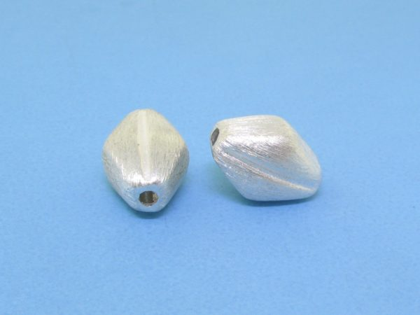 #15773 - Brushed Sterling Silver Bead - 11mm