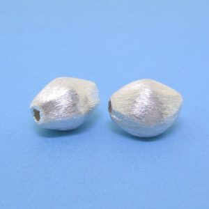 #15776 - Brushed Sterling Silver Bead - 11mm