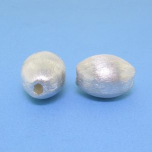 #15778 - Brushed Sterling Silver Bead - 13mm
