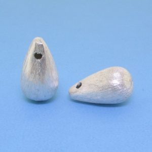 #15780 - Brushed Sterling Silver Drop Bead -14mm