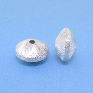 #15786 - Brushed Sterling Silver Bead - 11mm