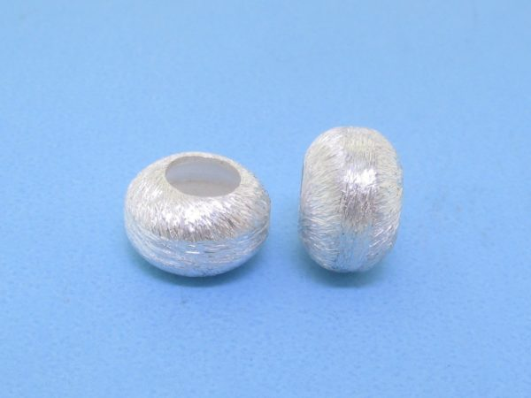 #15789 - Brushed Sterling Silver Bead - 10mm