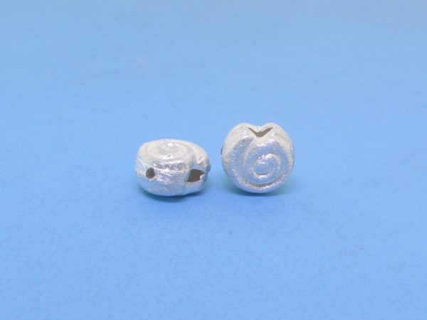 #15794 - Brushed Sterling Silver Bead - 14mm