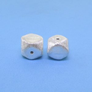 #15796 - Brushed Sterling Silver Bead - 8mm