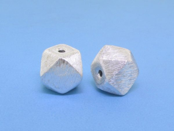 #15797 - Brushed Sterling Silver Bead - 10mm