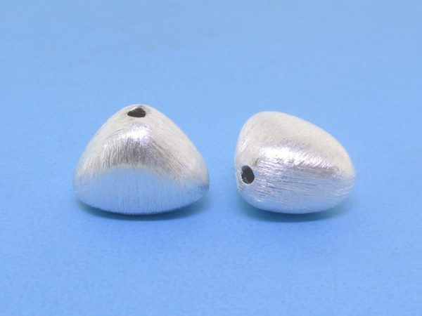 #15798 - Brushed Sterling Silver Bead - 13mm