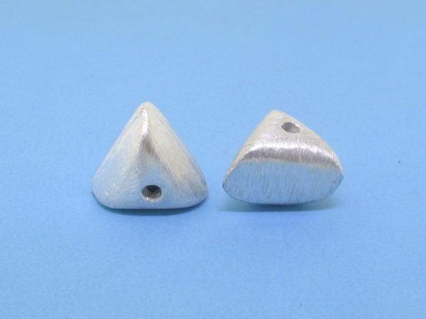 #15800 - Brushed Sterling Silver Heart Bead - 12mm