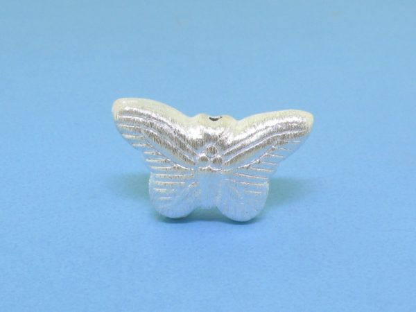 #15814 - Brushed Sterling Silver Butterfly Pendant - 12mm