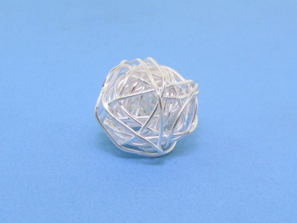 #15817 - Brushed Sterling Silver Bead - 14mm