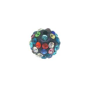 4212 - 12mm Round Shamballa Bead - Multi Color