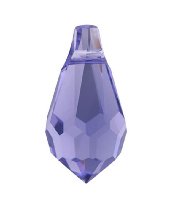 6000 - 11x5.5mm Swarovski Crystal Drop Pendants - Tanzanite