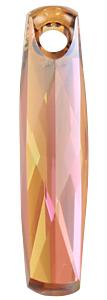 6460 - 20mm Swarovski Column Pendant - Copper
