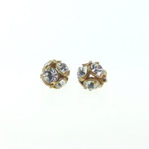 # 3705 - 5mm Swarovski Gold Plated Rhinestone Ball - Crystal