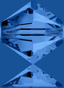 5301/5328 - 8mm Swarovski Bicone Crystal Bead - Capri Blue