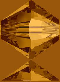 5301/5328 - 8mm Swarovski Bicone Crystal Bead - Crystal Copper