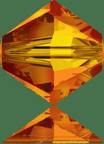 5301/5328 - 8mm Swarovski Bicone Crystal Bead - Fire Opal