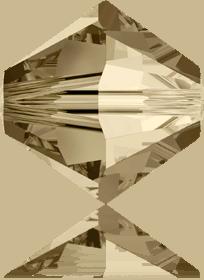 5301/5328 - 8mm Swarovski Bicone Crystal Bead - Golden Shadow