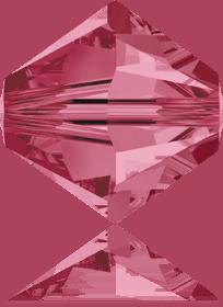 5301/5328 - 8mm Swarovski Bicone Crystal Bead - Indian Pink