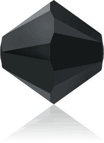5301/5328 - 8mm Swarovski Bicone Crystal Bead - Jet Hematite