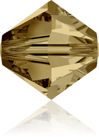 5301/5328 - 8mm Swarovski Bicone Crystal Bead - Light Col Topaz