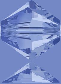 5301/5328 - 8mm Swarovski Bicone Crystal Bead - Light Sapphire