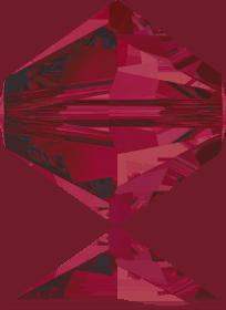 5301/5328 - 8mm Swarovski Bicone Crystal Bead - Ruby