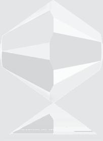 5301/5328 - 8mm Swarovski Bicone Crystal Bead - White Alabaster