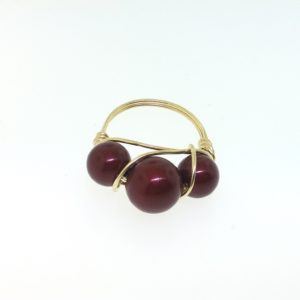 12136 - 14K Gold Filled Ring With Swarovski Pearl