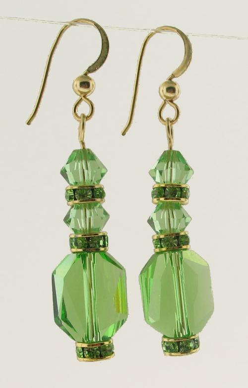 #25520 - Swarovski Crystal Peridot Earring
