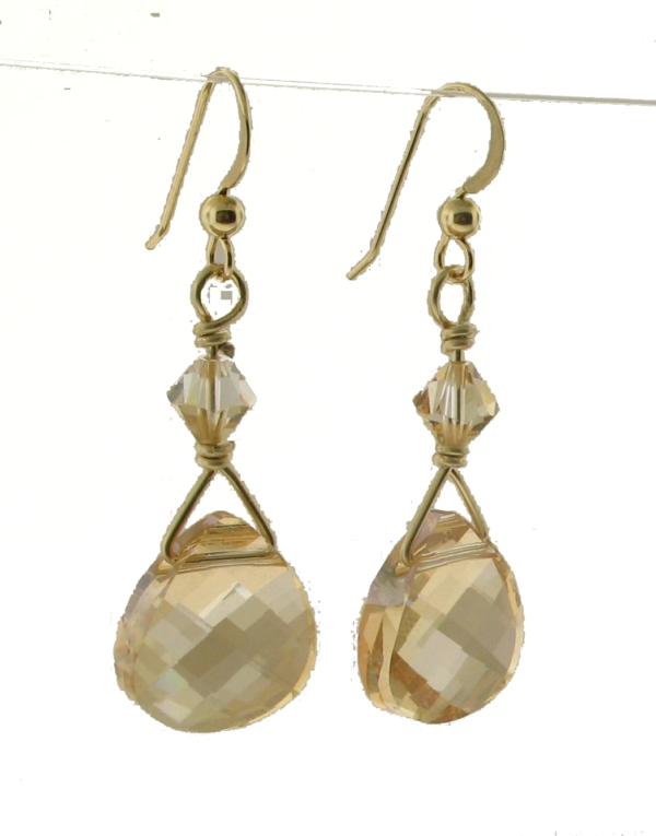 #26012 - Swarovski Crystal Golden Shadow Earring