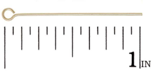 """#1853 - 1"""" (22- Gauge) Gold Filled Eye Pin"""